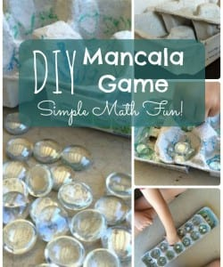 Create your own Mancala game out of an egg carton! A great way for kids to learn math and strategy through play!