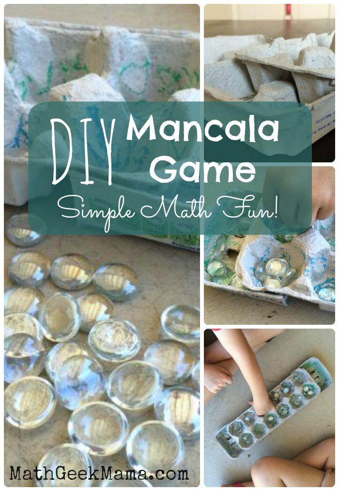 Diy Mancala Game Board Learning Math Through Play on Helpful Math Links