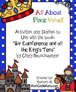 "FREE ""Sir Cumference and All the King's Tens"" Activities!"
