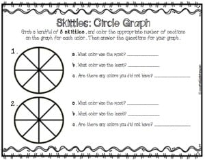 skittles sort and graph circle graph math geek mama. Black Bedroom Furniture Sets. Home Design Ideas