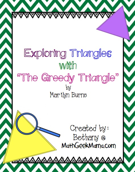 "Such a fun investigation of triangles to use with the book ""The Greedy Triangle!"" Great for kids of all ages!"
