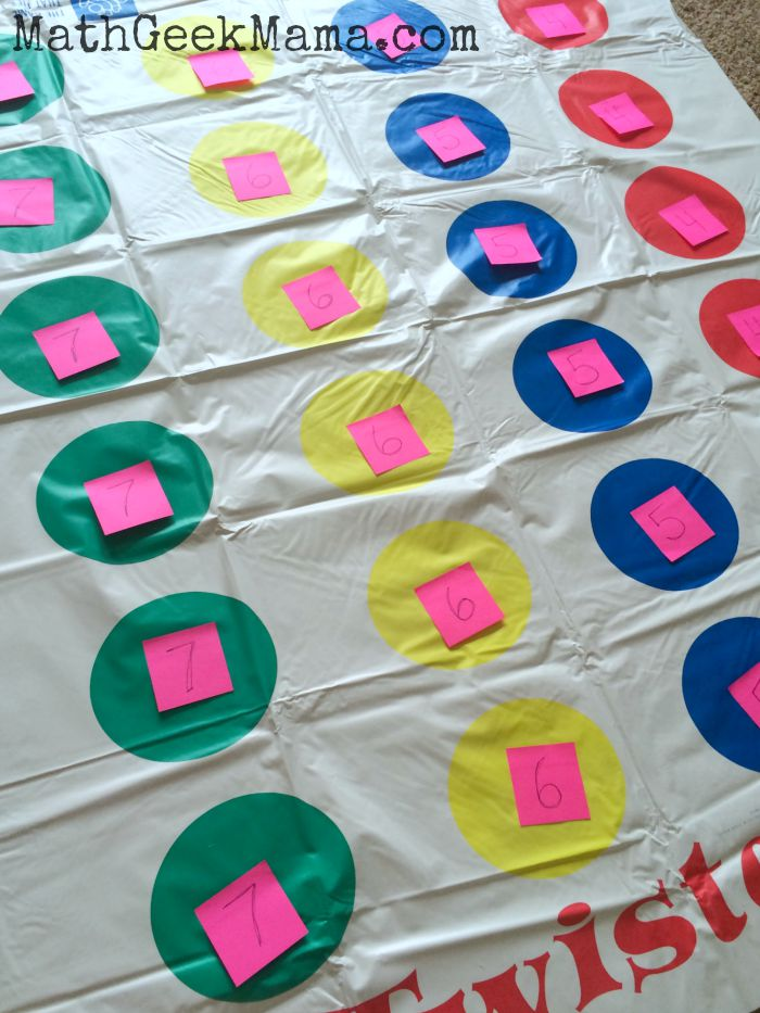Math Twister A Fun Indoor Math Game
