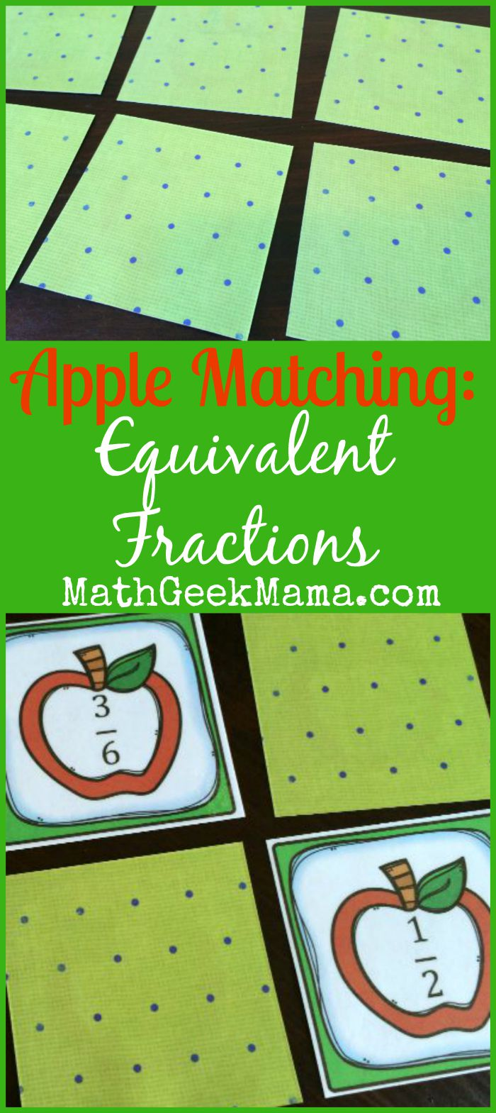 This fun and low prep game is a great way to let your kids practice recognizing equivalent fractions! Simply print and play independently or with a friend!