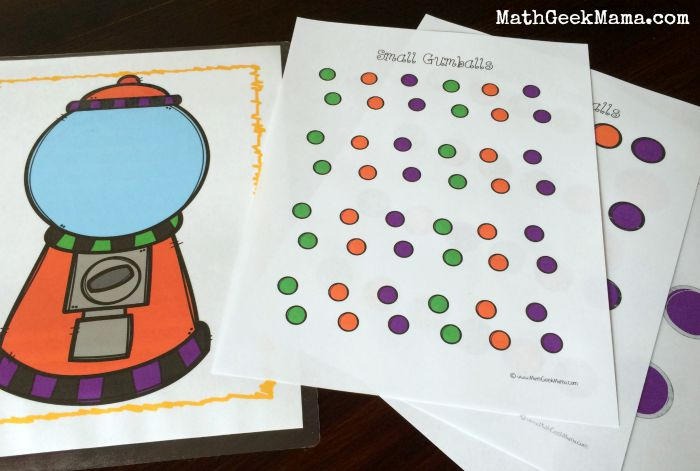 Gumball Estimation Math Activity from Math Geek Mama