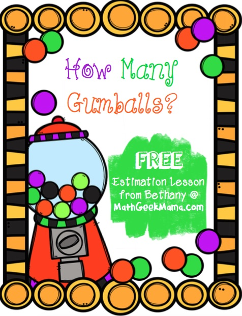 This adorable gumball estimation activity is a great way for kids to compare sizes and learn to make reasonable estimates!