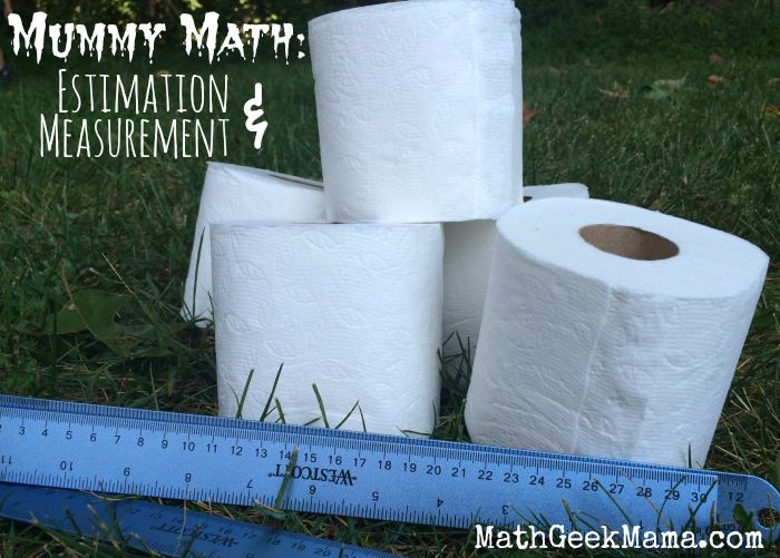 Such a fun and cute way to help kids practice estimating and measuring! Great halloween math activity that kids will LOVE!