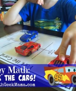 Disney Math: Recognizing Numbers with Cars!