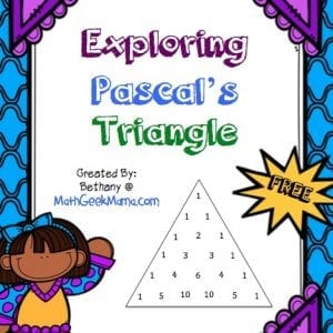 Such great ideas for kids of all ages to find and explore patterns in Pascal's Triangle! Love these coloring pages!