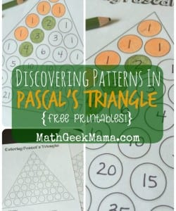 Exploring Patterns in Pascal's Triangle {FREE Printables!}
