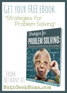 This awesome resource explains 6 different problem solving strategies with examples, PLUS includes a printable summary page, perfect for kids notebooks! Grab your FREE copy today!