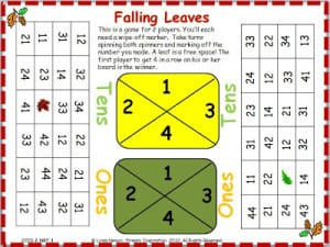 Fall Place Value Falling Leaves 1