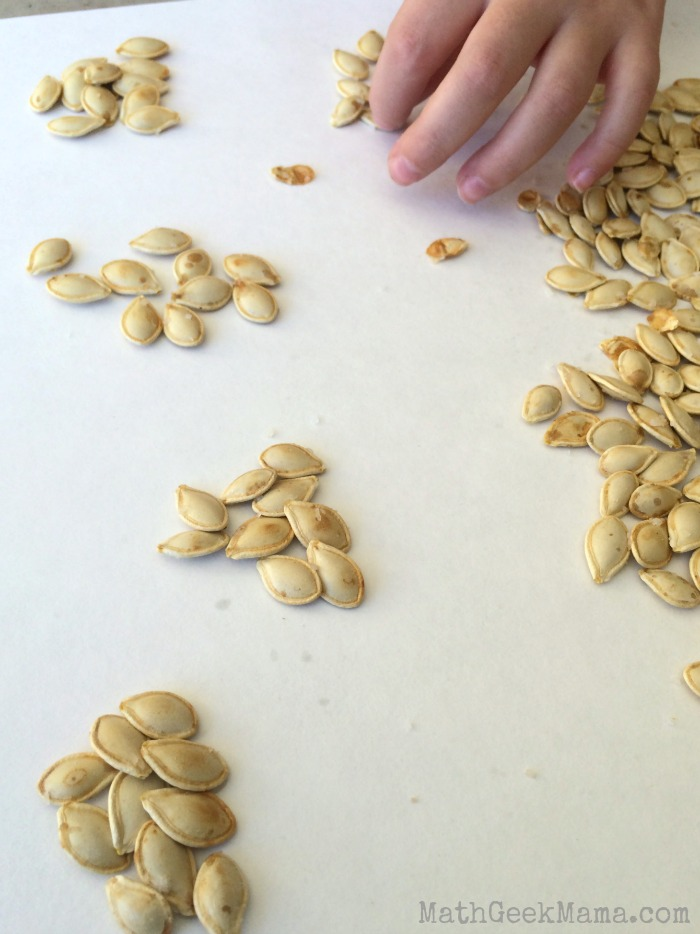 Estimating pumpkin seeds is a great hands-on math activity that really gets kids thinking about estimation and skip counting! Plus it's a great combination of math and literacy!