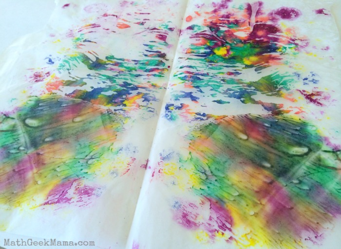 Melted Crayons Art and Math