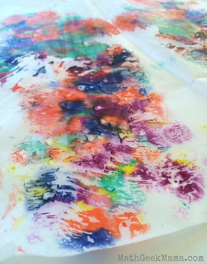 Melted Crayons Math Art_mathgeekmama