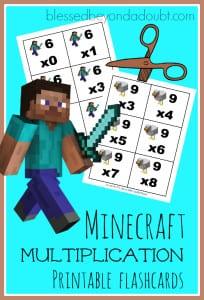 Minecraft-multiplication-flashcards