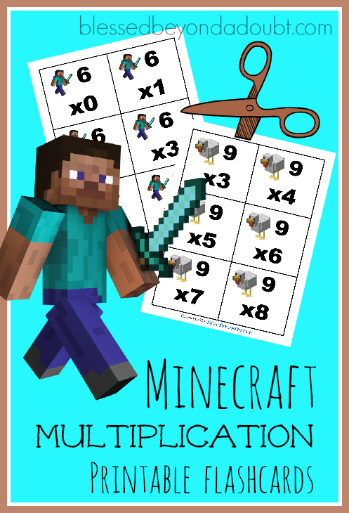 Minecraft Multiplication Flashcards Math Geek Mama