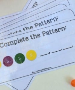 Creating Patterns With Skittles {FREE Printable!}