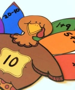"""Build a Turkey"" Number Sense Activity {FREE Printable}"