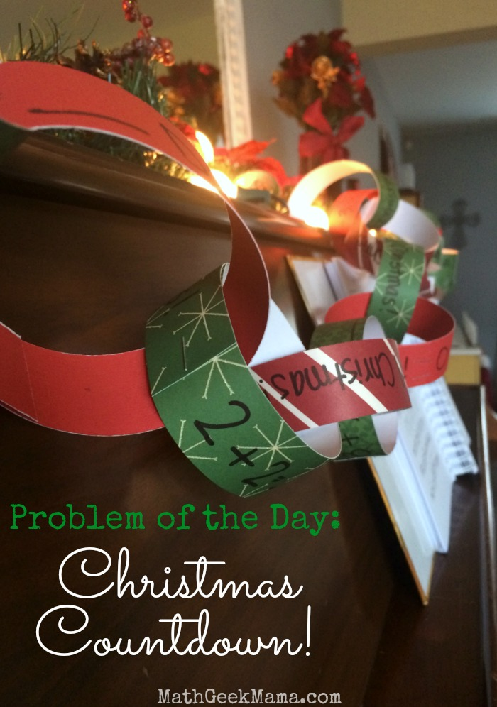 "This fun, Christmas twist on a ""problem of the day"" is SUCH a great idea! What a fun way for kids to countdown to Christmas while still practicing important math skills!"