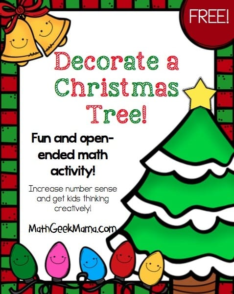 This Christmas math activity helps increase number sense, and gets kids to think creatively about numbers! There are so many ways to use it depending on the age of your students, so the possibilities are endless!