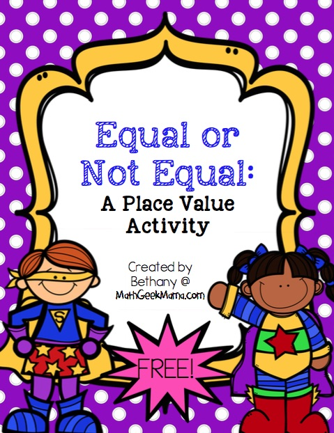 Equal or Not Equal_Place Value