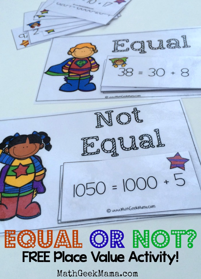 This is such a fun way for kids to work on expanded form and place value! This simple sort is low prep and helps kids understand when number forms are equal or not equal.