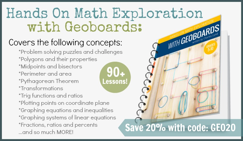Explorations with Geoboards Coupon Ad