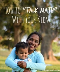 "Increase ""Math Talk"" with Your Kids {It's Not as Scary as it Sounds!}"