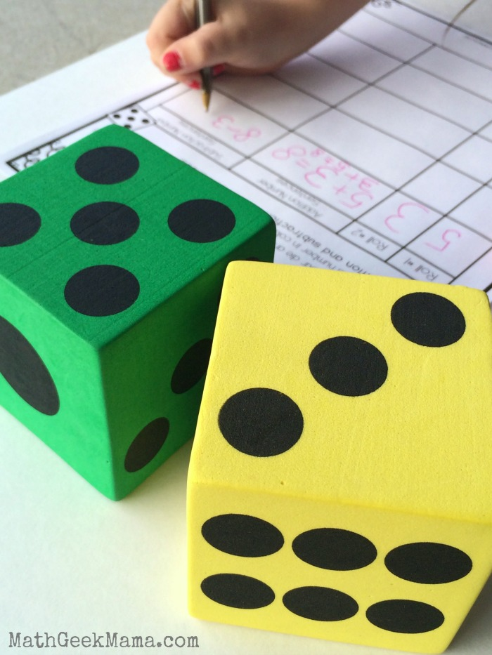 This simple activity is a great way to help kids see the connection between addition and subtraction, as well as practice writing addition and subtraction number sentences! Perfect for first grade!