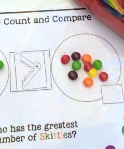 Skittles Count and Compare! {FREE Printable Pack}