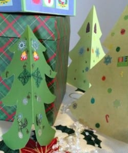 Easy Christmas Tree Symmetry Craft!