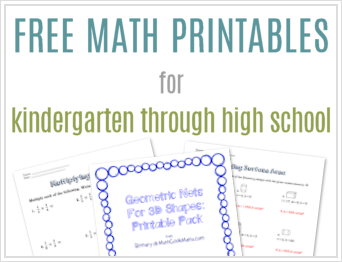 FreeMathPrintables