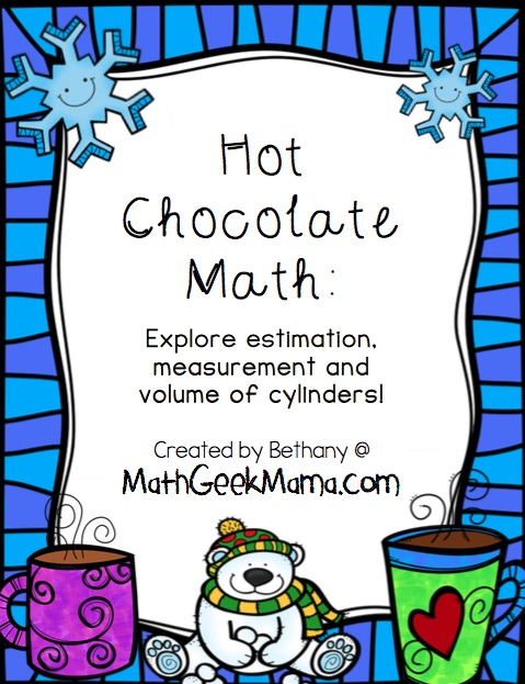 This fun, hands-on math lesson is prefect for a cold, snowy day! Help kids explore measurement, estimation and the volume of a cylinder!