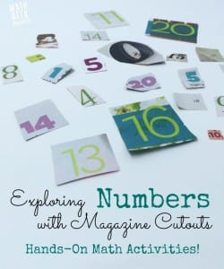 Exploring Numbers With Magazine Cutouts