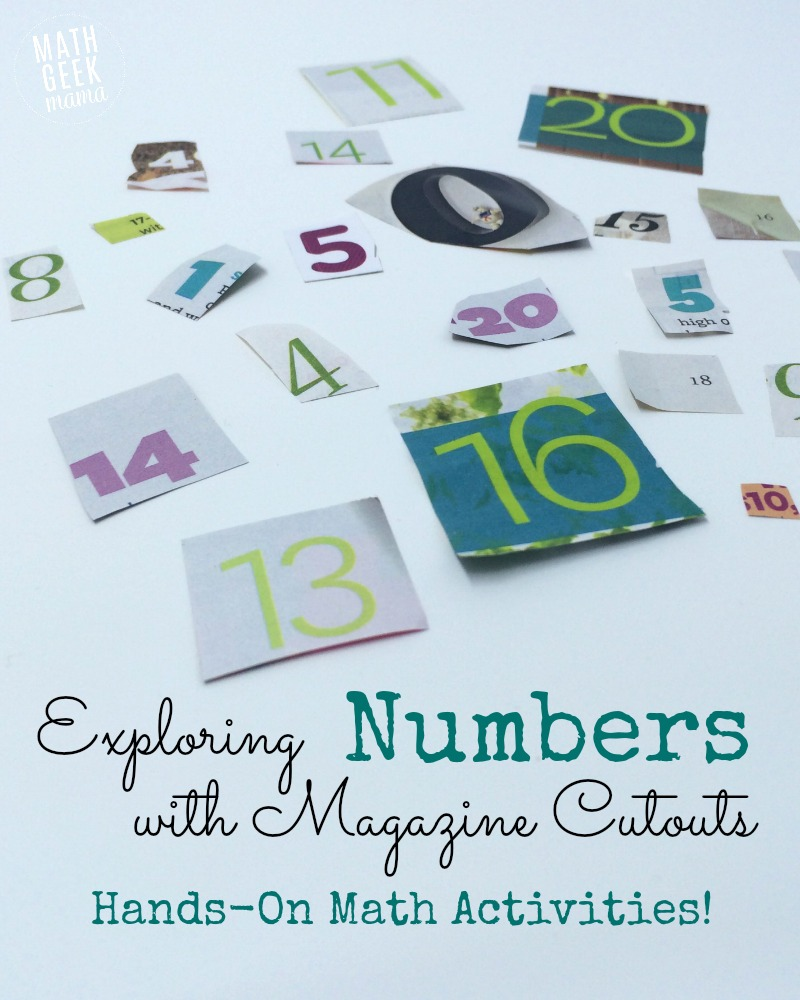 So many fun ideas to learn math with magazine cutouts! What a fun, hands-on way to learn math !