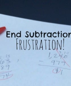 You won't believe how this simple trick can help kids who struggle with subtracting with regrouping (or borrowing). Share this with your kids today!