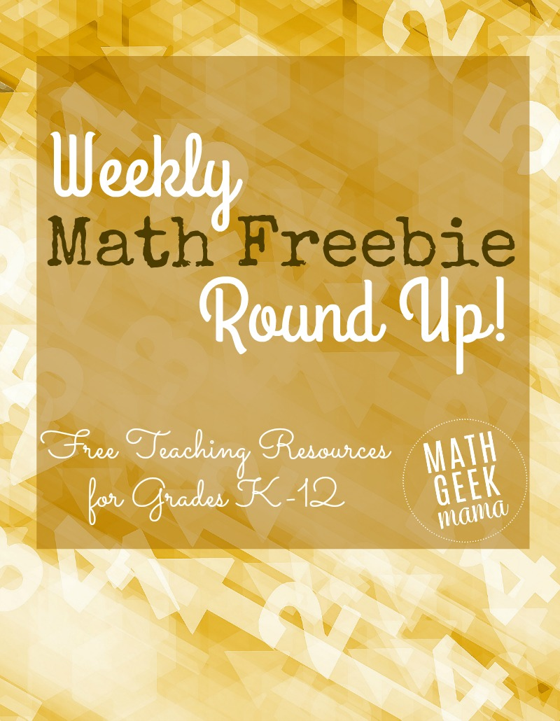 Tons of great math teaching freebies, shared every week at MathGeekMama.com! Be sure to check it out for printable lessons and games, teaching ideas, cool videos and more!