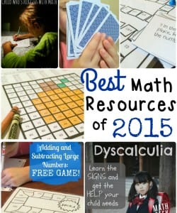 Find all the best in math teaching tips and FREE math lessons and games from Math Geek Mama in 2015!