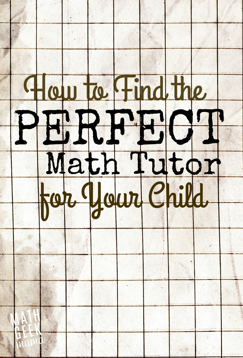 Finding the right math tutor to help your child can be an overwhelming task. This post offers great tips for finding the right person, as well as important things to consider when searching for a math tutor.