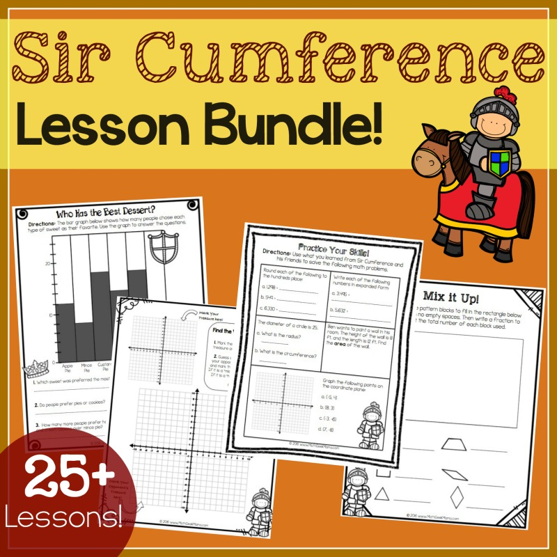 sir cumference lessons and games bundle math geek mama. Black Bedroom Furniture Sets. Home Design Ideas
