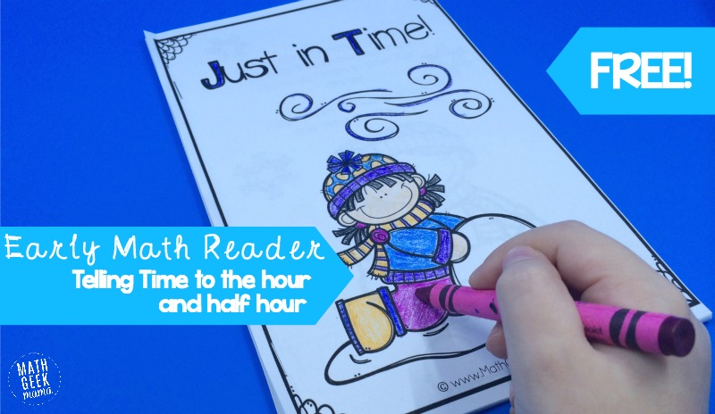 This super cute early math reader is a great way for kids to practice telling time and see how we use time in everyday life. Easy to print and assemble, plus it's completely free!