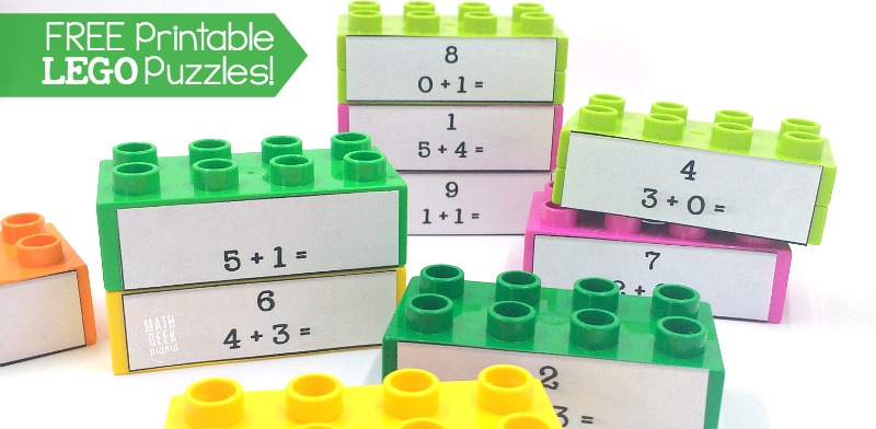 Lego Duplo Math Puzzles Free Printables. This Idea For Practicing Math Facts Is Brilliant These Lego Duplo Puzzles Are Such. Printable. Fun Math Puzzles Printables At Clickcart.co