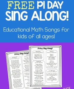 This simple collection of math songs is perfect for a Pi Day celebration! Two pages of songs set to familiar tunes to help students learn about the number pi!