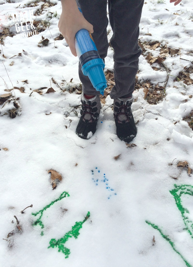 Stuck inside because of snow? Take your work outside! Practicing math in the snow is a great way to work on skills and get out in the fresh air, even when it's cold!