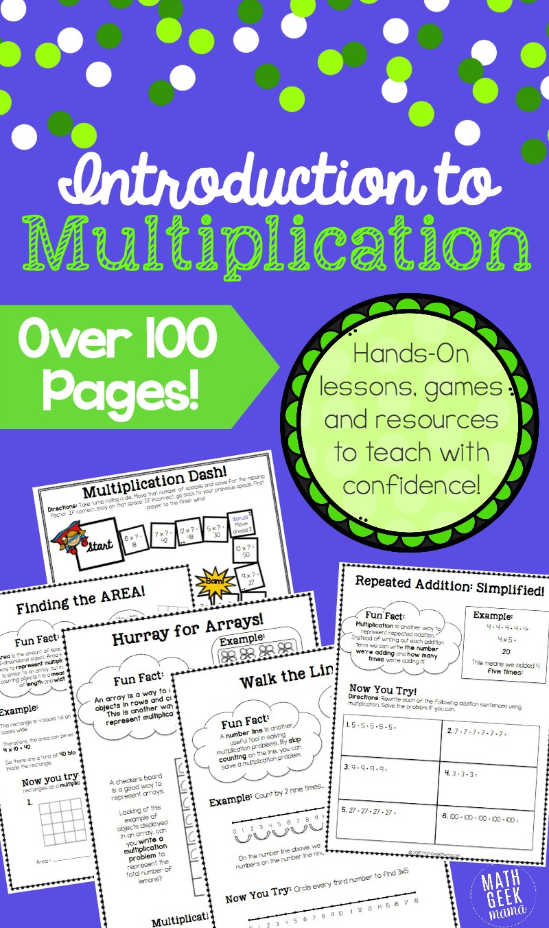 Multiplication Bundle Introduction Lessons and Games