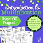 Multiplication Bundle Lessons and Games Square Graphic