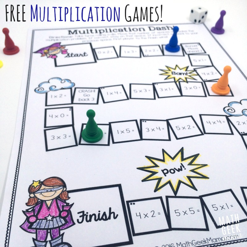 photograph relating to Multiplication Game Printable named Very simple, Very low Prep Printable Multiplication Online games! Totally free