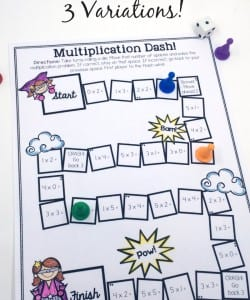 Printable Multiplication Games {FREE}