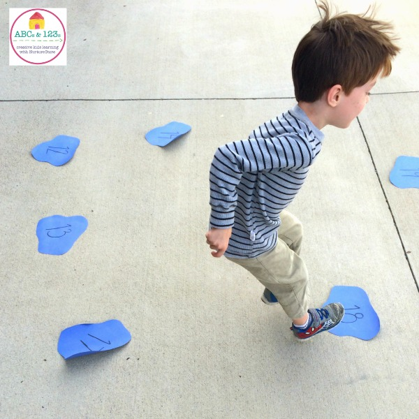 This simple and easily adaptable game is a great way to get kids moving while learning their math facts! Only takes 5 minutes to set up!