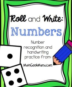 Roll and Write: Number Practice Pages {FREE}